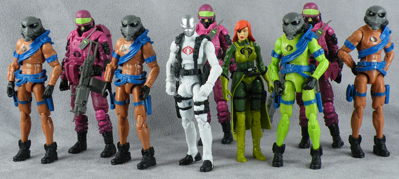 G.I Joe Convention 2013 Night Force Nocturnal Fire Individual Figures