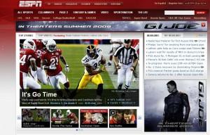 ESPN.com front page w/ G.I. Joe